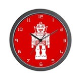 Red Robot Wall Clock
