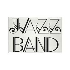 Stylish Jazz Band Rectangle Magnet