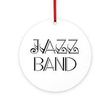 Stylish Jazz Band Ornament (Round)