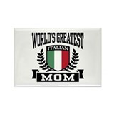 World's Greatest Italian Mom Rectangle Magnet
