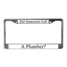 Plumber License Plate Frame