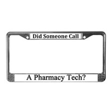 Pharmacy Tech License Plate Frame