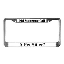 Pet Sitter License Plate Frame