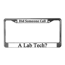 Lab Tech License Plate Frame