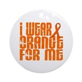 I Wear Orange For Me 16 Ornament (Round)