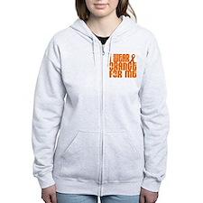 I Wear Orange For Me 16 Zip Hoodie