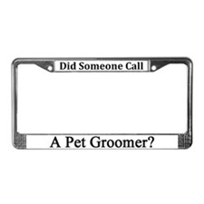 Pet Groomer License Plate Frame