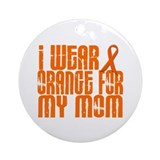 I Wear Orange For My Mom 16 Ornament (Round)