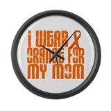 I Wear Orange For My Mom 16 Large Wall Clock