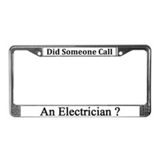 Electician License Plate Frame