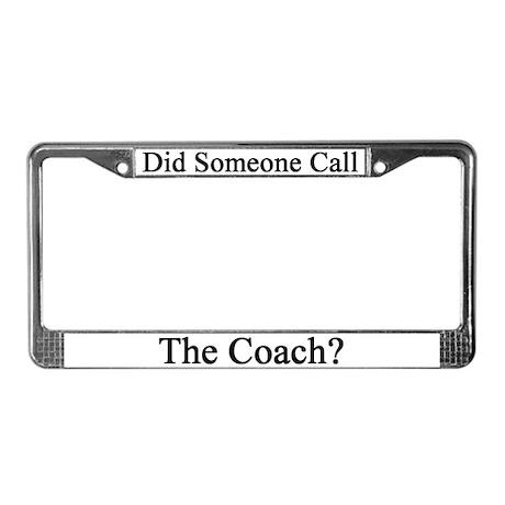Sports Coach License Plate Frame