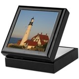 Sunset Light House Keepsake Box