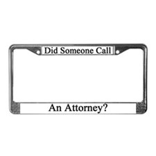 Lawyer License Plate Frame