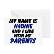 my name is nadine and I live with my parents Greet