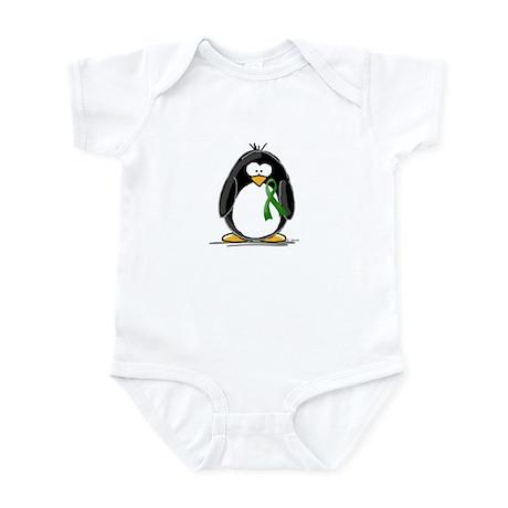 Green Ribbon Penguin Infant Bodysuit