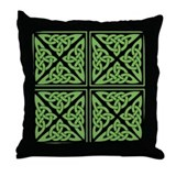 Celtic Knots Irish Green Throw Pillow