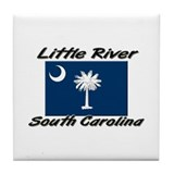 Little River South Carolina Tile Coaster