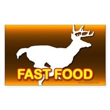 Fast Food... Rectangle Decal