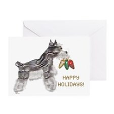 HoHo Schnauzer Greeting Cards (Pk of 10)