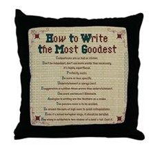How to Write Most Goodest Throw Pillow, Embroidery