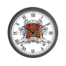 Ogilvie Tartan Shield Wall Clock
