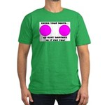 CHECK YOUR BOOBS... Men's Fitted T-Shirt (dark)