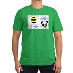 Bee & Panda Attitude/Humor Men's Fitted T-Shirt (d