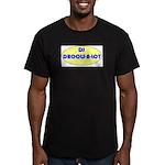 DJ DROOLS-A-LOT Men's Fitted T-Shirt (dark)