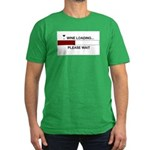 WINE LOADING... Men's Fitted T-Shirt (dark)