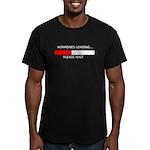 HORMONES LOADING... Men's Fitted T-Shirt (dark)