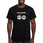 I LOVE MY HUBBY Men's Fitted T-Shirt (dark)