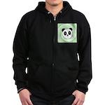 PANDA BEAR Zip Hoodie (dark)