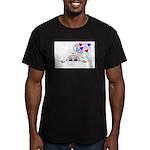 BABY LOVE Men's Fitted T-Shirt (dark)
