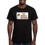 LEAF NO STONE UNTURNED Men's Fitted T-Shirt (dark)