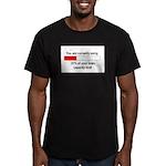 BRAIN CAPACITY LIMIT Men's Fitted T-Shirt (dark)