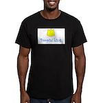 POOPIN' KING Men's Fitted T-Shirt (dark)