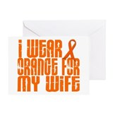 I Wear Orange For My Wife 16 Greeting Card
