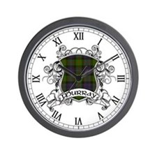Murray Tartan Shield Wall Clock