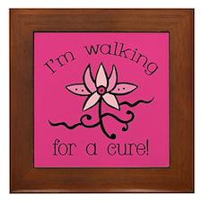 Walking for a Breast Cancer Cure Framed Tile
