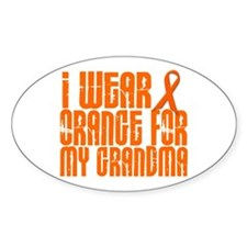 I Wear Orange For My Grandma 16 Decal