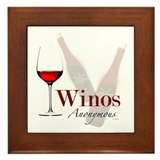 Wine Lovers Framed Tile