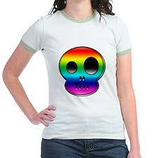 Little buddy rainbow skull T