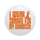 I Wear Orange For My Grandson 16 Ornament (Round)