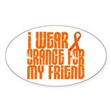 I Wear Orange For My Friend 16 Decal