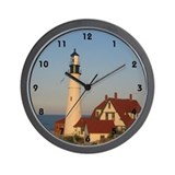 Sun Set Light House Wall Clock