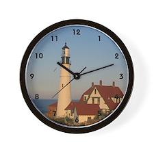 Sun Set Light House Wall Clock