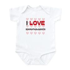 I LOVE ZOOPATHOLOGISTS Infant Bodysuit
