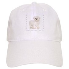 Maltese Puppy Baseball Cap