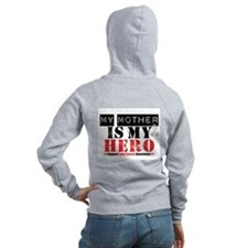 Lung Cancer Hero Mother Zip Hoodie