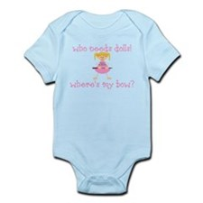 Where's My Bow? (Blonde) Infant Bodysuit